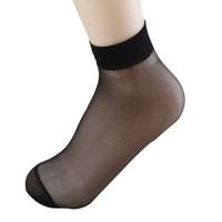 Wholesale Girls Transparent Socks - Bamboo sexy female Short Socks Women Thin Crystal Socks Transparent Thin Silk Socks for girl Best quality