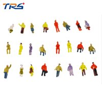 Wholesale Architectural Model Figures - Wholesale- 100pcs scale model painted figures architectural scale model people 1 100