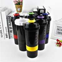 Wholesale Spider Stock - 6 Colors 500ml New Spider Protein Shaker 3 in 1 Sports Water Bottle With Inserted Mixing Ball Drinkware CCA7316 300pcs