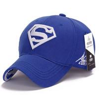 Wholesale Superman Cap Men - New Hot Sale Superman Mens Baseball Caps Brand Snapback Women Golf Hats For Men bone aba retaBA606