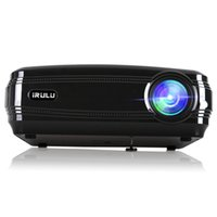 Wholesale Iphone Video Support - iRULU P5 Projector Multimedia Home Theater Video Projector Support 1080P HDMI USB VGA for Home Cinema TV Laptop iPhone Andriod Smartphone