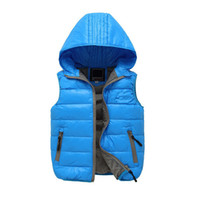 Wholesale Girls Down Jacket Fur - Monkids 2016 Fashion Winter Children's Clothing Girls Fur Vest Thick Floral Stitching Batik Down Vest Warm Outwear Jacket