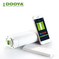 моторизованный занавес оптовых-Wholesale-Broadlink DNA Dooya WiFi Electric Curtain Motor DT360E Remote Control + super quite curtain track For Smart Home Automation