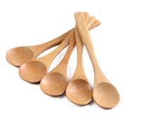 Wholesale Tableware Wooden Spoon - 5.1inch Wooden spoon Ecofriendly Japan Tableware Bamboo Scoop Coffee Honey Tea Spoon Stirrer