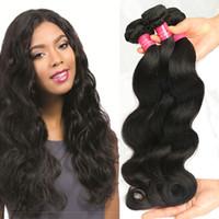 Wholesale discounted virgin human hair online - Peruvian Virgin Hair Body Wave Best Quality Unprocessed Virgin Human Hair Weave Peruvian Body Wave High Discount