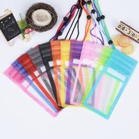 Wholesale Plain Lanyards - Wholesale Universal Mobile Phone Waterproof Case Clear Dry Bag With Lanyard Triple Sealed Neck Pouch Pack Cases Bags For iphone Samsun