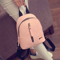 Wholesale Leather Fur Backpack - 2017 Cute Korean Small New Women Bag Packs Quality PU Leather Fashion Bags Mini Backpack women's backpacks Back Pack