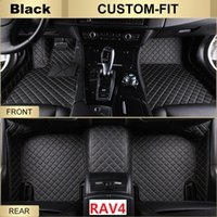 Wholesale Fitted Car Mats - SCOT All Weather Leather Car Floor Mats for Toyota RAV4 Waterproof Anti-slip 3D Front & Rear Carpets Custom-Fits Right-Hand-Driver-Model