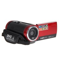 "видеокамера 2.7 lcd оптовых-Wholesale-FW1S HD720P 16MP DigitalVideo Camcorder CameraDV DVR 2.7""TFT LCD 16X ZOOM Red DO"