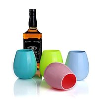 Wholesale Wholesale Form China - Silicone Wine Glass Unbreakable Stemless Rubber Beer Mug Outdoor Water Cup Wine Water Beer Whiskey Glass LJJK713