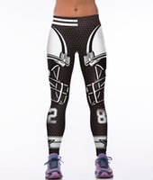 Wholesale D Printed Super Man Women sporting leggings Punk Rock Gothic Fitness Clothing America Footballs Leggings Capris Slim Runs Pants