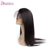 Wholesale indian remy straight hair styles - Brazilian Straight Hair 360 Lace Frontal Band non-remy hair Full Lace Frontal Closure New Style Natural Hairline