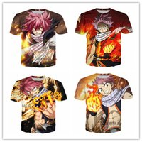 Wholesale Mens Tails - Japanese Anime Newest Fashion Mens Womans Fairy Tail T-Shirt Summer Style Funny 3D Print Casual T-Shirt Tops Plus Size AA224