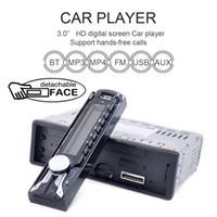Wholesale Car Front Panel - Car Audio Stereo FM MP3 Radio Player with Detachable Front Panel USB Remote Control CAU_01K