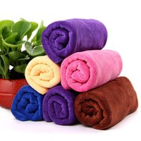 Wholesale Thick Soft Face Towel - 35x75cm 400g m Microfiber Drying Towel Ultra Soft Thick Super Absorbent Bath Shower Plush Towel Also For Sport Camping Car Washing