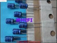 Wholesale Audio Electrolytic Capacitors - Wholesale- 2015 Supercapacitor 50pcs New Japan Elna Ina Blue Robe For Audio Electrolytic Capacitor 16v10uf 4x5, 4x7 Free Shipping