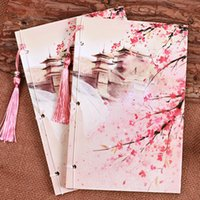 Wholesale Wholesale Printed Notepads - Wholesale- Hot Ancient book paper Chinese style notebook Stationery vintage daily tassels design classical handmade printing originality XM