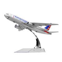 ingrosso vendita di aeromobili-Nuova vendita calda 1: 400 American Airlines Boeing 777 aeromodelli in metallo modello lega 16cm bambino regalo di compleanno modelli piani regalo di chiristmas
