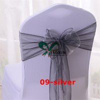 Wholesale cheap chair sashes wholesale - Cheap Price Chair Bow \ Organza Chair Sash Used On Wedding Banquet Chair Cover