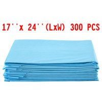 Wholesale large breed cat - 300 PCS 17 x 24 Puppy Pet Pads Dog Cat Wee Pee Piddle Pad training underpads