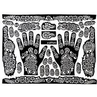 Wholesale Wholesale Henna Tattoo Stencils - Wholesale-Tattoo Templates Hands Feet Henna Tattoo Stencils for Airbrushing Mehndi Body Painting
