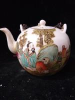 antigas, pintura, crianças venda por atacado-Coleção Arte Folclórica Chinês Famille Rose Porcelana pintados à mão Velho bule de criança w Tang Zizhen Mark C022