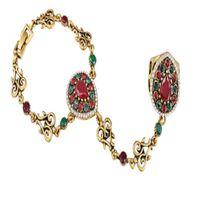Wholesale slave bracelet online - 2 New Boho Wedding Turkish Jewelry Vintage Bracelet Luxury Gold Plating Slave Bracelets For Women Bijoux Pulseras