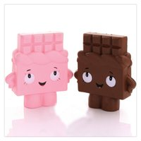 Wholesale electronic chocolate online - New cm Jumbo Squishies Chocolate Boy Girl Squishy Soft Slow Rising Scented Gift Fun Toy Mobile Phone Strapes Stress Anxiety Gift Free DHL
