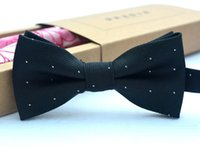 Wholesale Solid Color Brown Bow Ties - Bow Tie children clothes boy's Baby Boy Accessories solid color Shirt Tie Gentleman Bowknot Dot AA-956