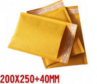 Wholesale Craft Paper Pads - 200*250 +40mm Craft Paper Padded Bubble Envelope Mailing Flat Bags 30 pcs lot