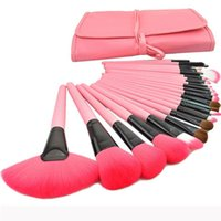 Wholesale Brushes Carry Case - 2015 Hot Professional 24PCS Set Pink Makeup Brushes Makeup For You Brush Set Cosmetic Brushes Including a Deluxe Carrying Case!