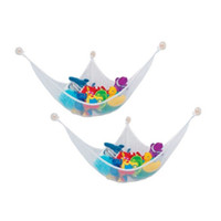 Polyester / Cotton organize baby - Kids Room Toy Hammock Net with Hook Stuffed Jumbo Animals Organize Storage Organizer New Kids Toys Baby Mesh Toy Storage Box