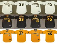 black and white parker - 2017 Men s Pittsburgh Pirates DAVE PARKER JOHN CANDELARIA Throwback Baseball Home And Away Jerseys Stitched