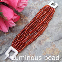 "Wholesale Carnelian Silver - FC102910 8'' 12 Strands Round Carnelian Bracelet CZ Clasp FC102811 8"" 12 Strands Round Green Jade Bracelet FC102611 8' 12 Strands 4mm Round"