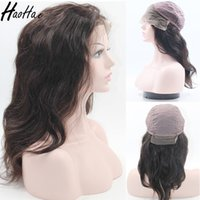 Wholesale glueless full lace wigs dhl - Human hair wigs for black women Glueless wig natural color unprocessed customize full lace wig body wave DHL shipment
