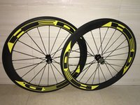 Wholesale Deercycles Straight Pull Powerway R36 hub c HED Yellow decals mm Carbon Wheels Clincher Tubular Road Bike Wheels Cycling Bicycle Wheel