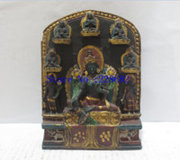 Wholesale Tibetan Brass Buddhas - 100% Tibetan traditional hand-carved crafts, collection old 8 buddha statue from Tibet ,free shipping