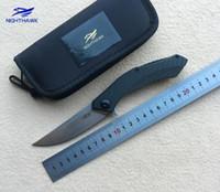 karbon taşıyıcı toptan satış-ZT Sıfır Tolerans 0460 ZT0460CF rulman katlanır bıçak D2 blade karbon fiber kolu tatical kamp avcılık açık survival bıçaklar EDC