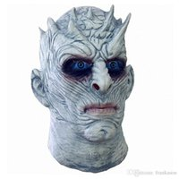 Wholesale Halloween Costume Head Mask - Halloween Costumes Game of Thrones Night's King White Walker Men's Full Head Mask Cosplay Halloween outfit