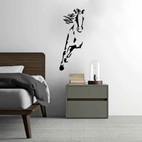 Wholesale Wild Decor - Wild Running Horse Art Vinyl Wall Sticker Animal Creative Wall Decal for Home Decor