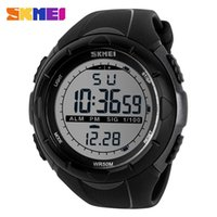 Wholesale Watch Big Size Men - Large Size Branded SKMEI Men Climbing Sports Digital Wristwatches Big Dial Military Watches Alarm Shock Resistant Waterproof Watch Saat