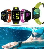 Wholesale Water Proof Wrist Watch - GV68 Bluetooth smart watch wrist BLE 4.0 water proof IPS 1.22 big screen fitness tracking watch