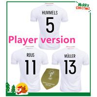 Wholesale Germany Green - Player version 2017 Germany OZIL MULLER GOTZE HUMMELS KROOS BOATENG REUS Soccer Wear jerseys thai quality soccer jersey football shirts