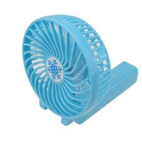 Wholesale china gift retail online - Handy USB Fan Foldable Handle Mini Charging Electric Fans Snowflake Handheld Portable For Home Office Gifts RETAIL BOX