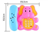 Wholesale Musical Telephone - The elephant music telephone electric light-emitting toys toys for childrenToy Musical Instrument