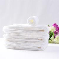 Wholesale Infant Reusable Diapers - 2017 large Three layers Ecology Diaper baby cotton Diaper washable Breathable Reusable No fluorescent agent Diaper for infant 45*15cm C1867