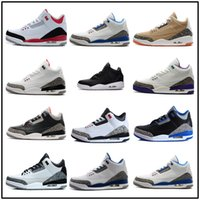 Wholesale Advanced Shoes - 2018 shoes 3 white black cement infrared 23 basketball shoes sneakers for men designer 2017 GS wolf grey Advanced Quality Version size 8-13