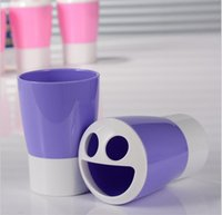 Wholesale Gargle Cup - 2017 Creative Spriral Design Bothroom Gargling Cup Creative Toothbrush Cup Toothbrush Holder Toothbrush Mug bathroom wash gargle cup