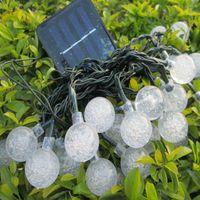 Wholesale Led Strip 6m - Solar LED strip 30leds 6M dragonfly and mini ball christmas light Solar 1.2V Christmas lights dragonfly 6M 30LEDS LED Fairy garden