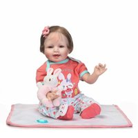 Wholesale Silicone Dol - Updated Reborn Girl 22inch 55cm Cotton Body Lifelike Newborn Baby Doll with Colorful Clothes Children's Birthday Xmas Gift Silicone Baby Dol